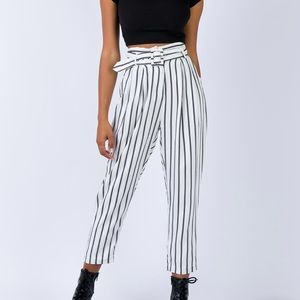 High waisted stripped pants